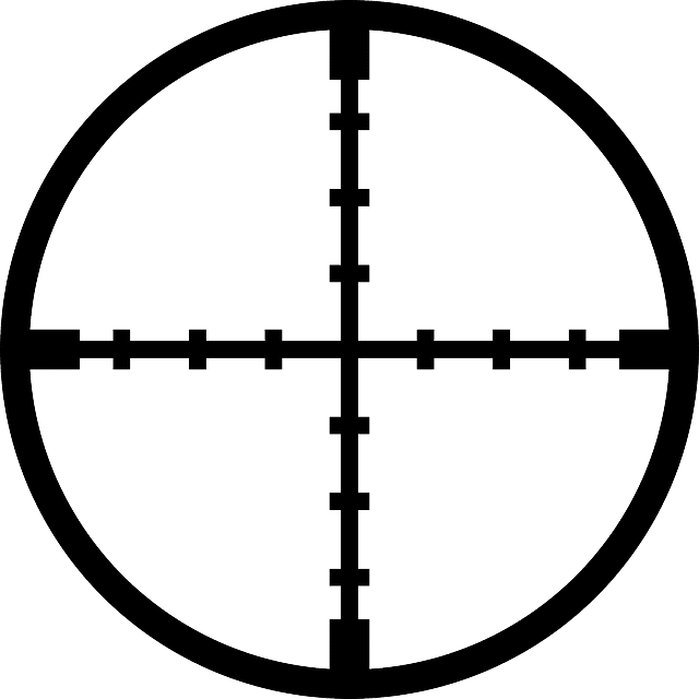the reticle of a scope