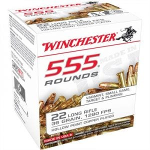 winchester 555 rounds pack for the 10/22