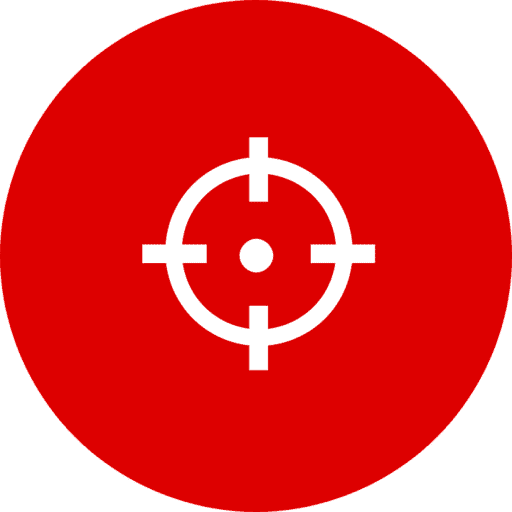 red background reticle image